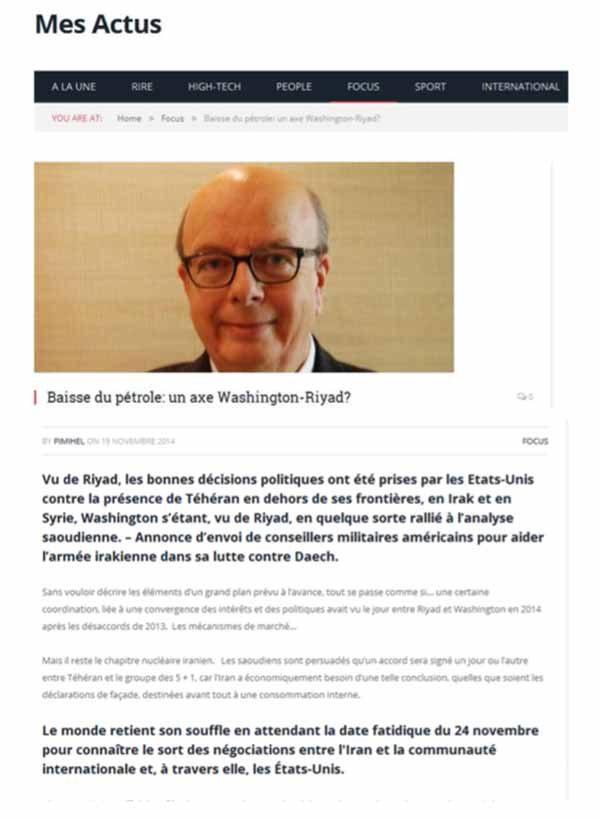 reprise article Gérard Vespierre Géopolitique 2014