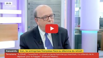 Iran, conséquences économiques internationales - interview Gérard Vespierre