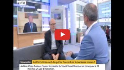 Iran, que va faire Trump ? Interview France Info Gérard Vespierre