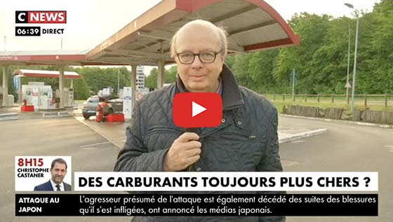 Gérard Vespierre interview CNews prix des carburants