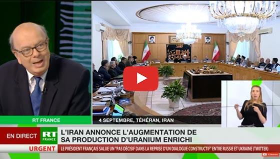 L'Iran annonce l'augmentation de se production d'uranium enrichi
