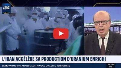 l'iran accèlère sa production d'uranium