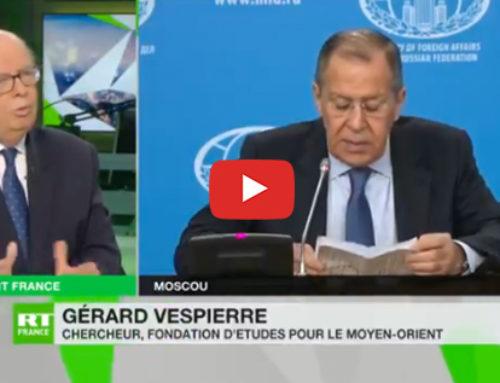 Conférence de Sergueï Lavrov, ministre russe des Affaires Etrangères – RT France