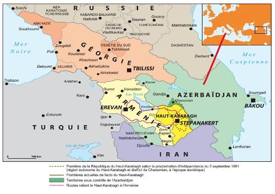 conflit entre entre l'Arménie et l'Azerbaïdjan