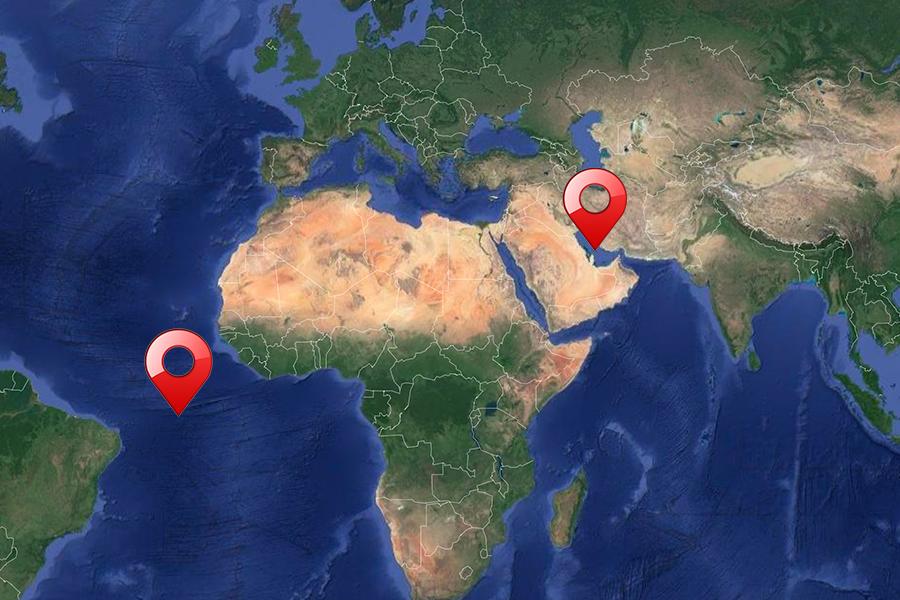golfe persique atlantique emirats