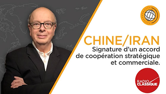 chine-iran signature accord strategique et commercial