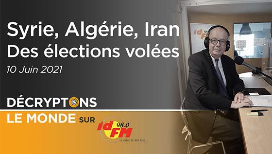 Syrie Algerie Iran élections volées